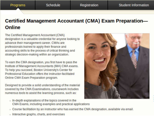 Online course on Management Accountant
