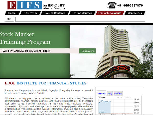 Course for investing in stock market by EIFS