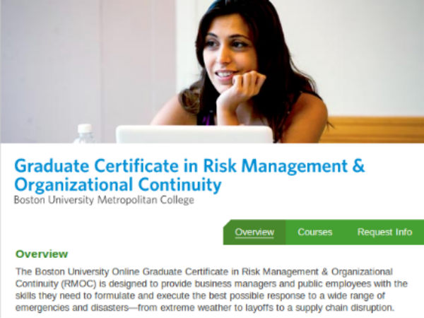 Online course on Risk Management