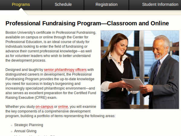 Online course on Fundraising