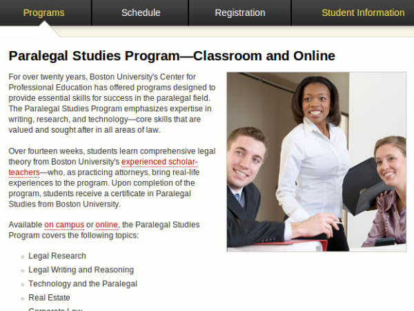 Online course on Paralegal studies