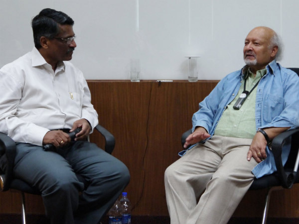 Dr Thomas Kailath in conversation with Mr G Vijaya Raghavan at Asian School of Business