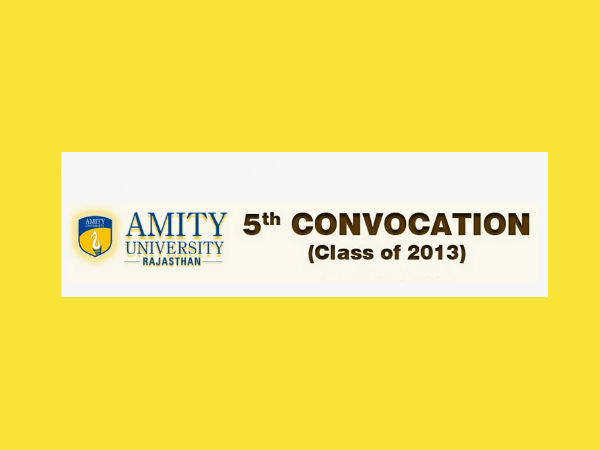 Amity University, Rajasthan's 5th  convocation