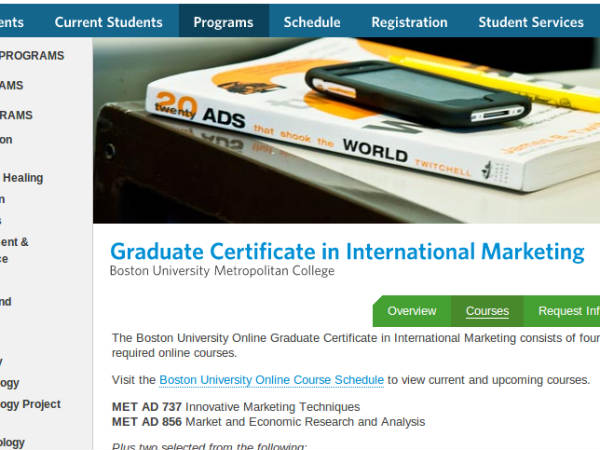 Online course on International Marketing