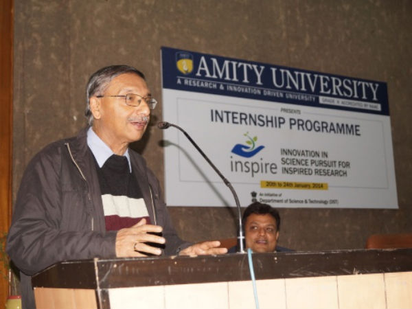 Dr. Alok Bhattacharya – Prof. of Life Sciences - Jawaharlal Nehru University addressing the gathering