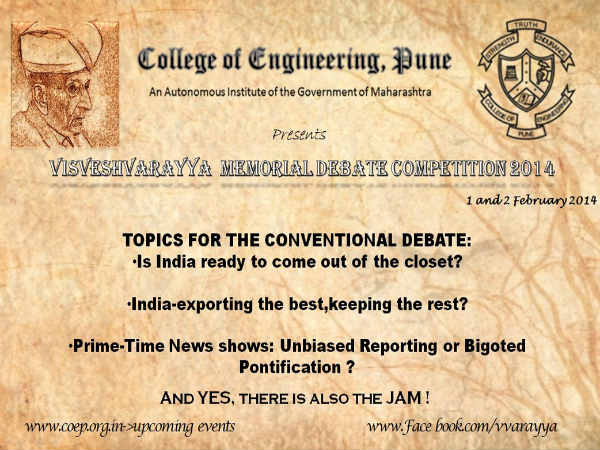 COEP's Visveshvarayya Memorial Debate Competition