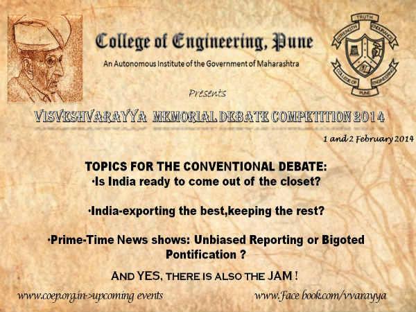 COEP's Visveshvarayya Memorial Debate Competition