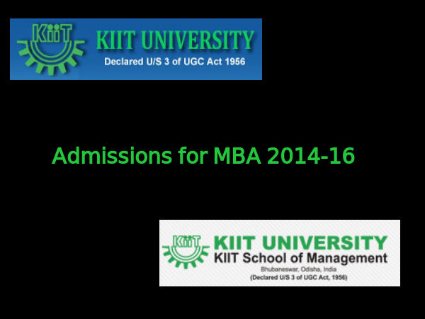 KIIT announces admissions to MBA course for 2014