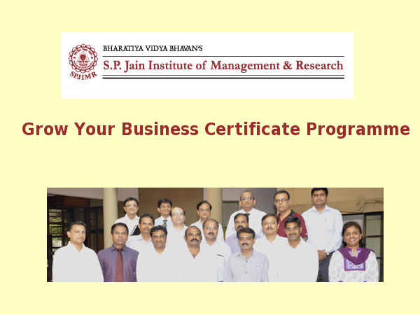 SPJIMR offers GYB Certificate Programme