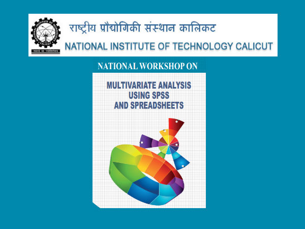 NIT Calicut's workshop on Multivariate Analysis
