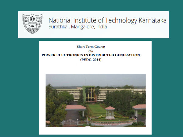 NIT Surathkal offers short term course on PEDG-14