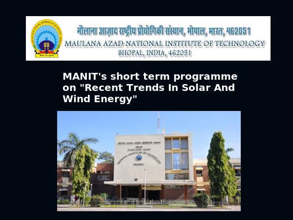 MANIT's short term training programme