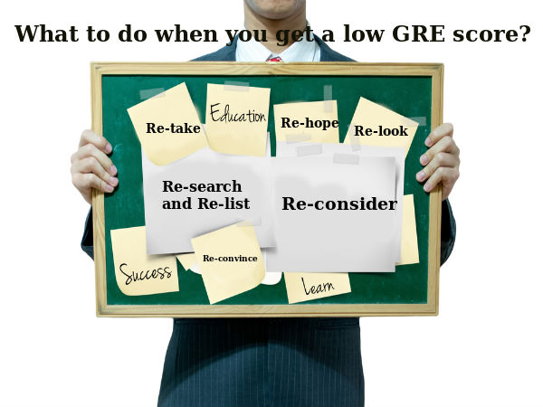 What to do when you get a low GRE score?