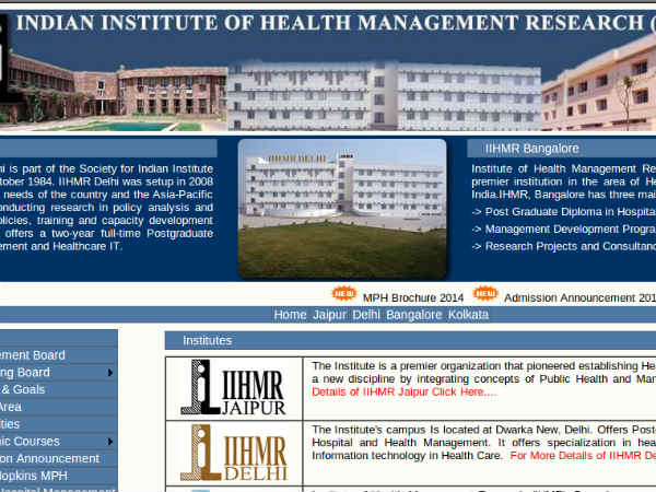 Applications are invited for PGDHM
