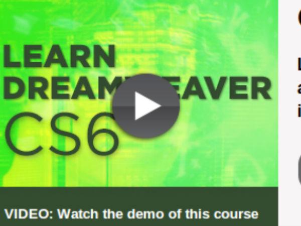 Online course on Dreamweaver CS6