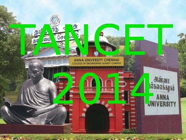 Anna University announces TANCET 2014 Time Table