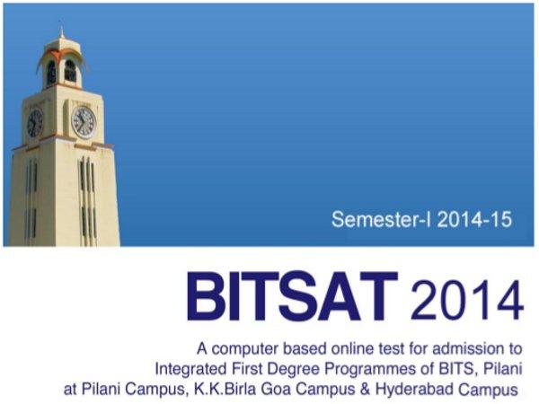 BITS Pilani's BITSAT-2014 for admissions