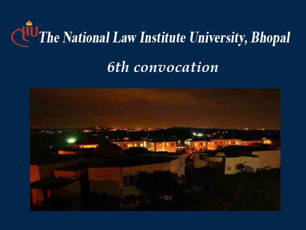 6th convocation at the NLIU