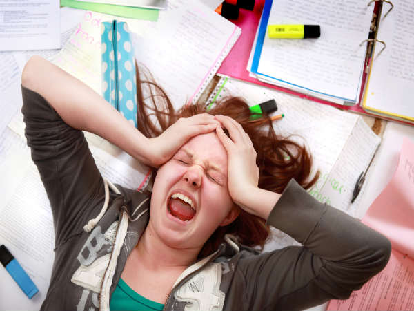 Students anxious about their first board exam