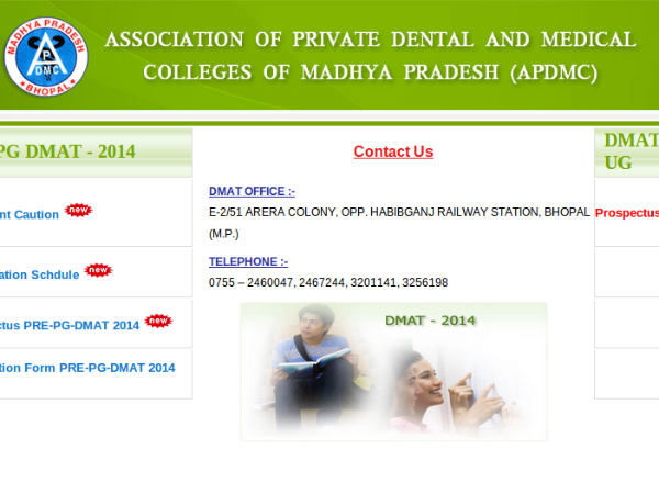 Applications are invited for Pre-PG-DMAT exam 2014
