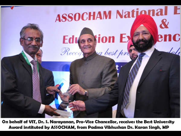 VIT varsity bags best university award by ASSOCHAM