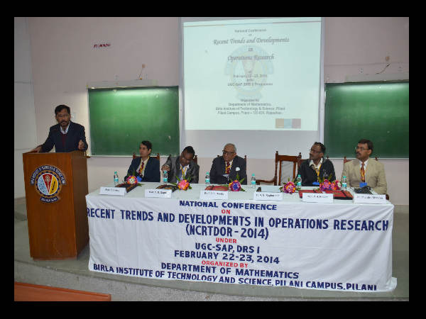 BITS, Pilani's NCRTDOR 2014-a National Conference
