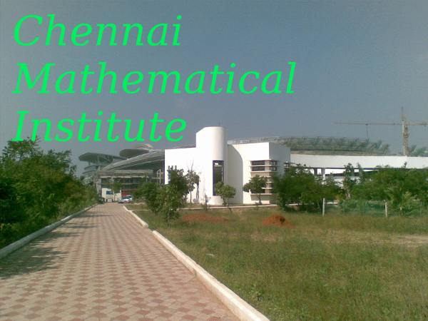 Chennai Mathematical Institute admissions 2014