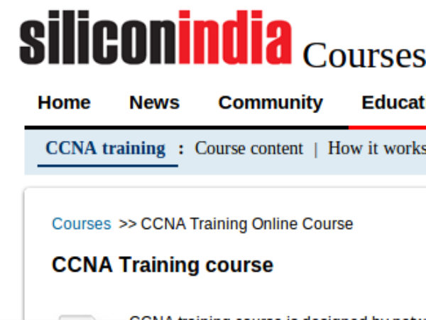 Online course on CCNA Training