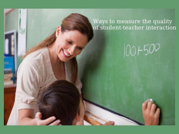Student-teacher interaction