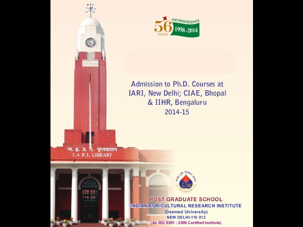 Admission to Ph.D courses at IARI, CIAE, IIHR