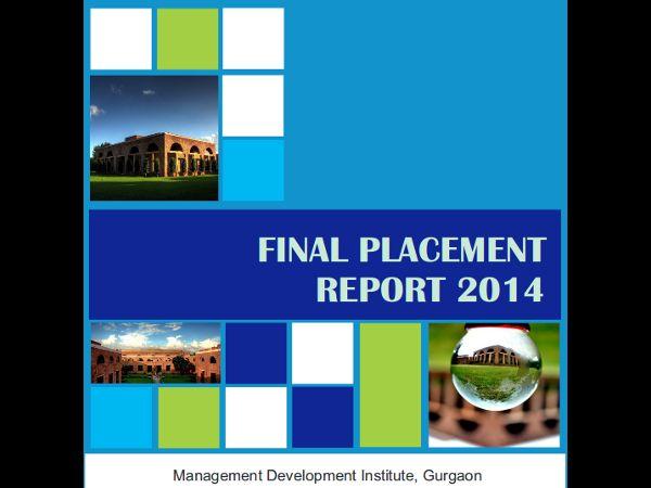 MDI Gurgaon announces Final Placement Report 2014