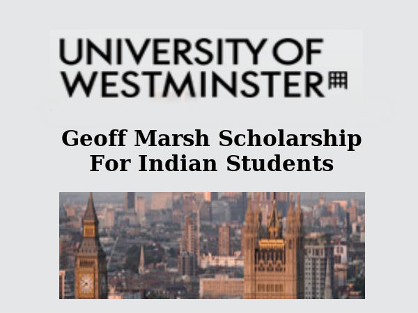 Geoff Marsh Scholarship For Indian Students