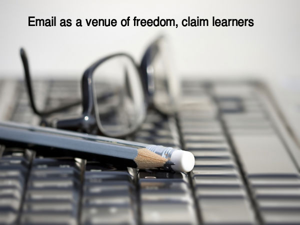 Email as a venue of freedom, claim learners