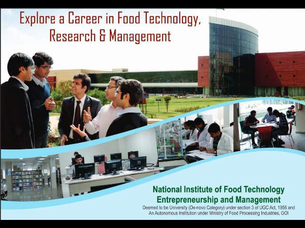 B.Tech, M.Tech & PhD Admission at NIFTEM
