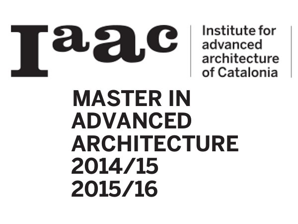 IAAC offers MS in Architecture admission 2014