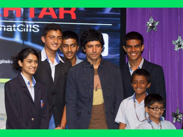 GIIS students with Mr Farhan Akhtar at the GIIS Leadership Lecture Series: