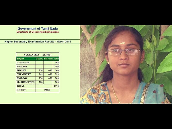 Krishnagiri Girl Top Plus Two Results in TN