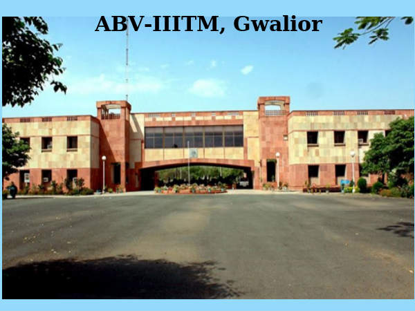 ABV - IIITM offers PhD admissions