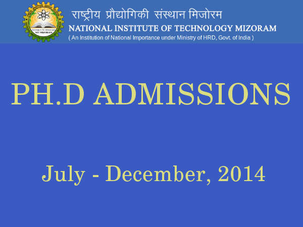 NIT-MZ invites applications for Ph.D programme