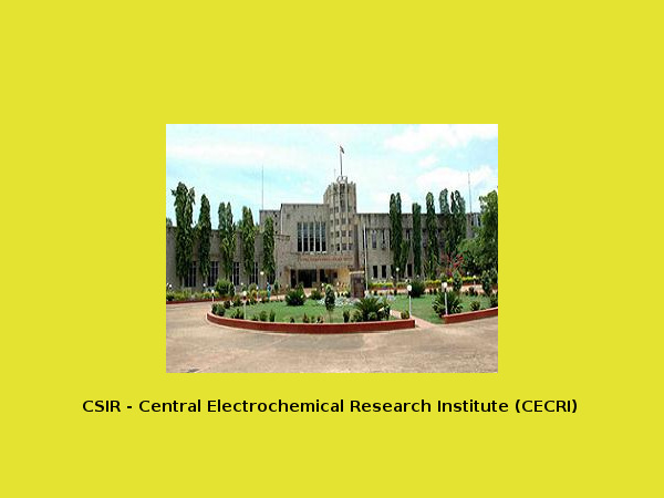 CSIR – CECRI offers admissions to B.Tech