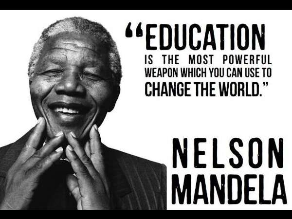 Nelson Mandela's walk of education