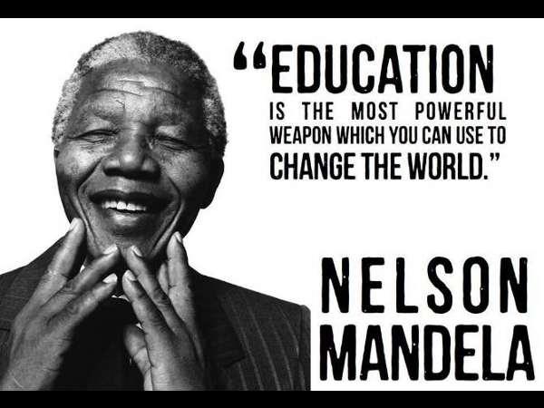 Nelson Mandela's walk of education