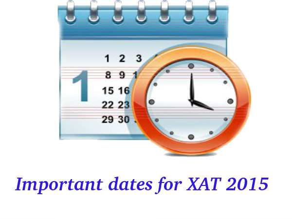 Important dates for XAT 2015