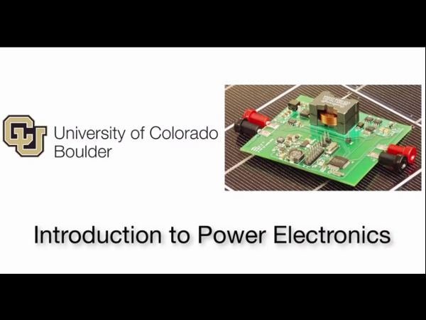 Free online course on Power Electronics