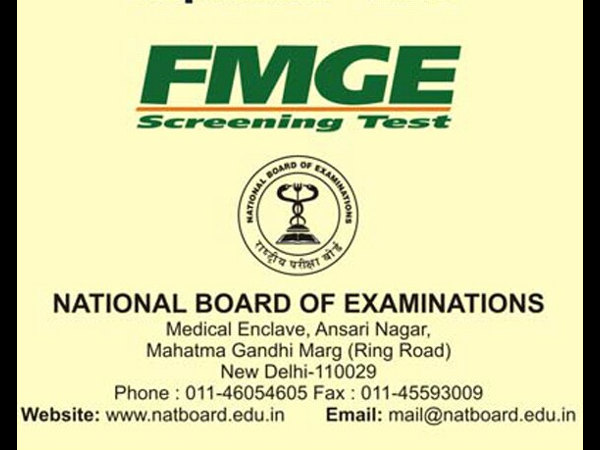 NBE announces online registration dates for FMGE (Screening
