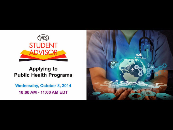 Free Webinar:  Applying to Public Health Programme