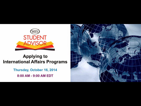 Free Webinar: Applying to International Affairs