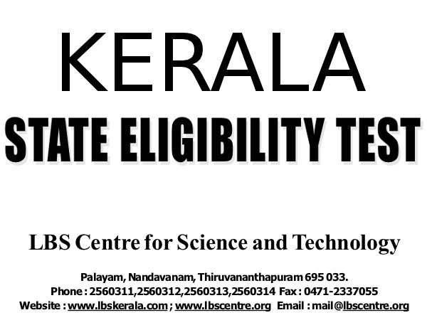 Kerala SET 2013 results on October 28