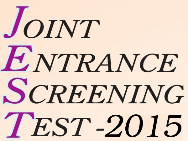 Joint Entrance Screening Test (JEST) 2015