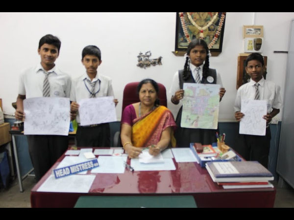 Drawing Competition at MES High School